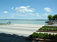 Lake Balaton from the direction of the pier which was renovated in 2004