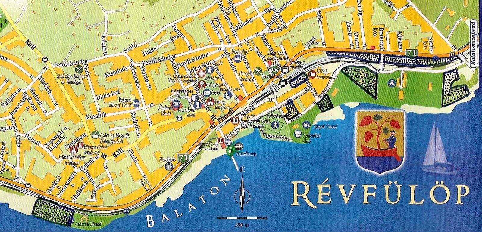balaton révfülöp térkép Balaton átúszás   Révfülöpi parkolóhelyek, Tájékoztatjuk a Balaton  balaton révfülöp térkép